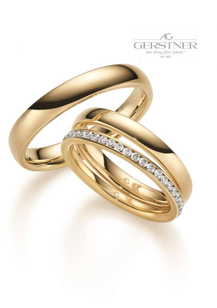 Mit Klick auf das Bild gelangen Sie zur Unterseite der klassischen Eheringe von Juwelier Silvia Brandstetter
